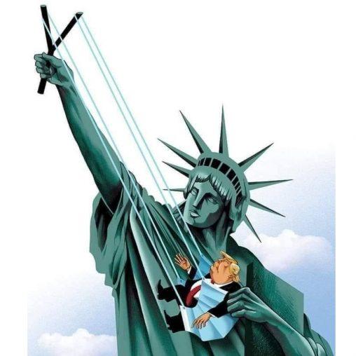 donald trump meme estatua libertad